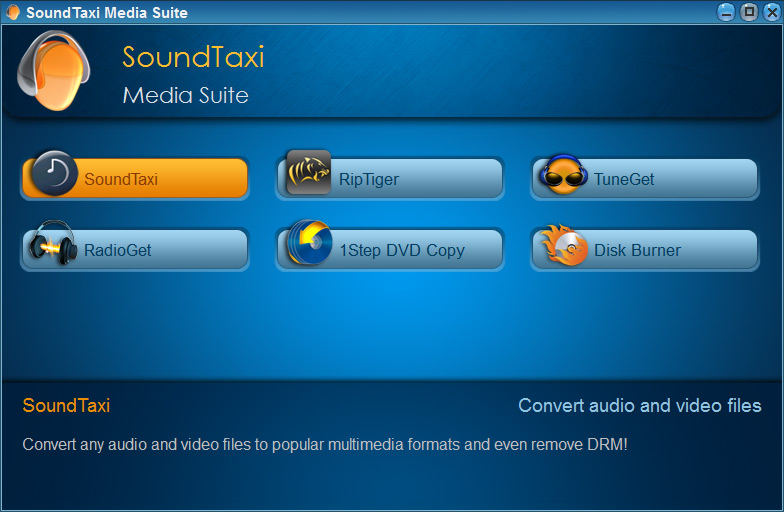 SoundTaxi Media Suite – Main Window